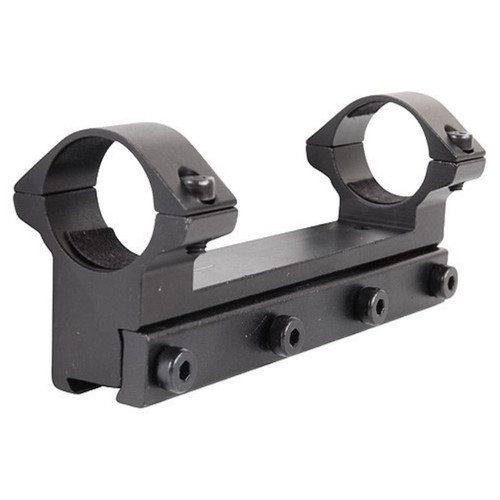 "RWS Lock Down Scope Mount with Integral 1"" Rings Rimfire and Air Gun Gloss"
