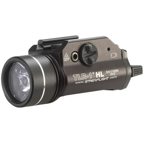 Streamlight TLR-1 HL Weapon Light LED with 2 CR123A Batteries Fits Picatinny or Glock-Style Rails Aluminum Matte
