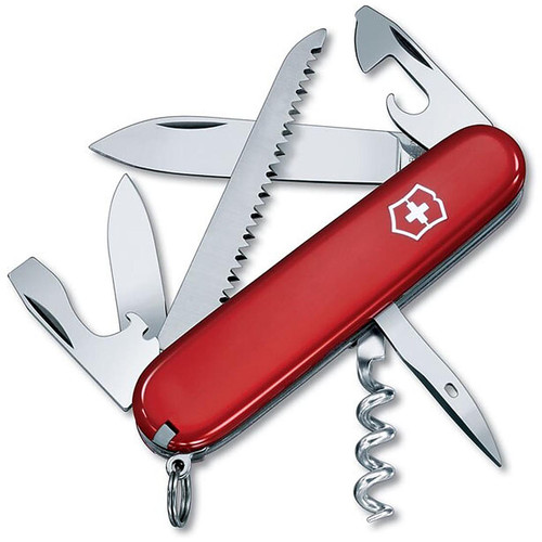 Victorinox Swiss Army Camper Knife 8 Function SS Blade Polymer Handle Red