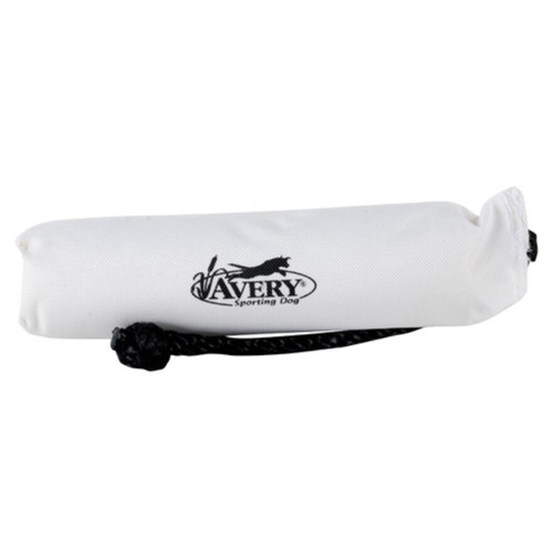 "Avery 2"" Canvas Bumper Dog Training Dummy White"