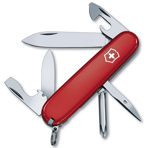 Victorinox Swiss Army Tinker Knife 10 Function SS Blade Polymer Handle Red
