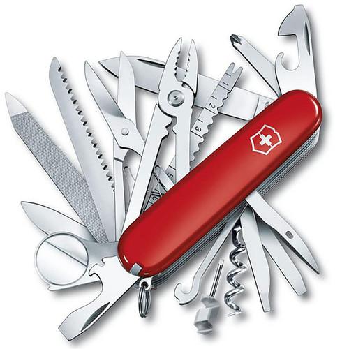 Victorinox Swiss Army SwissChamp Folding Pocket Knife 10 Function SS Blade