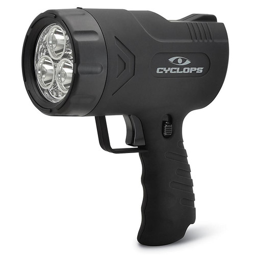 Cyclops Sirius 500 Handheld Spotlight LED Rechargeable Battery Black