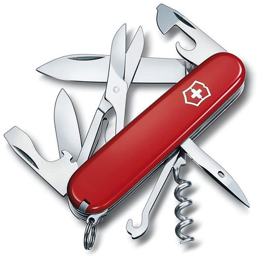 Victorinox Swiss Army Climber Knife 14 Function SS Blade Polymer Handle Red