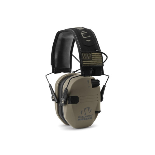 Walker's Razor Slim Patriot Electronic Earmuffs (NRR 23dB) Flat Dark Earth