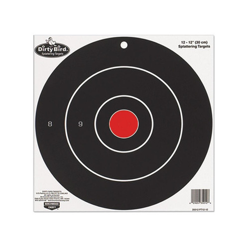 "Birchwood Casey Dirty Bird 12"" Bullseye Targets Pack of 12"