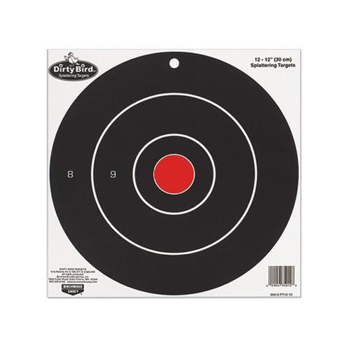 "Birchwood Casey Dirty Bird 12"" Bullseye Targets Pack of 12"