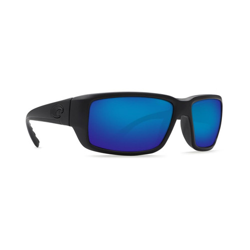Costa Del Mar Polarized Sunglasses Blackout Frame/Blue Mirror Glass Lens