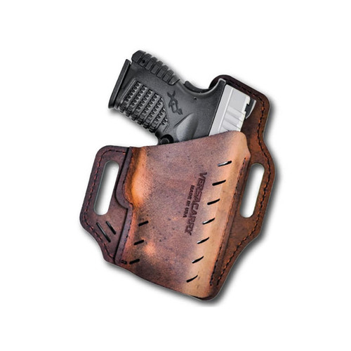 "Versacarry Guardian Holster Right Hand Compact 4"" Barrel Leather Brown"