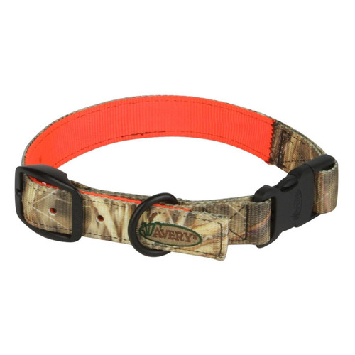 Avery Reversible Dog Collar Polyester Camo and Blaze Orange M