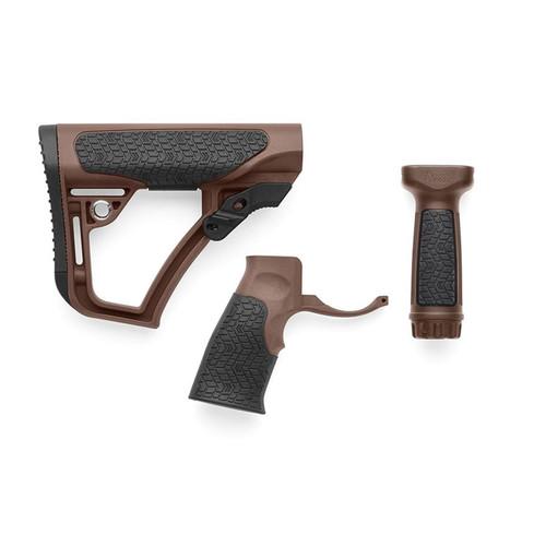 Daniel Defense Collapsible Stock, Pistol Grip, Vertical Foregrip Combo Kit Mil-Spec Diameter AR-15, LR-308 Carbine Polymer Mil-Spec+