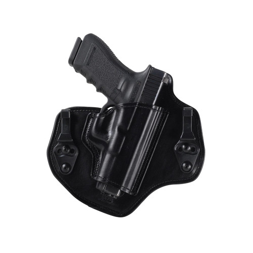 Bianchi Allusion Series 135 Suppression Tuckable Inside the Waistband Holster Right Hand Glock 17, 22, 31 Leather Black