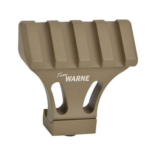 Warne 45 Degree Offset Picatinny Side Mount Adapter Aluminum Team Warne Dark Earth