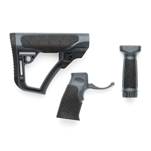 Daniel Defense Collapsible Stock, Pistol Grip, Vertical Foregrip Combo Kit Mil-Spec Diameter AR-15, LR-308 Polymer Tornado