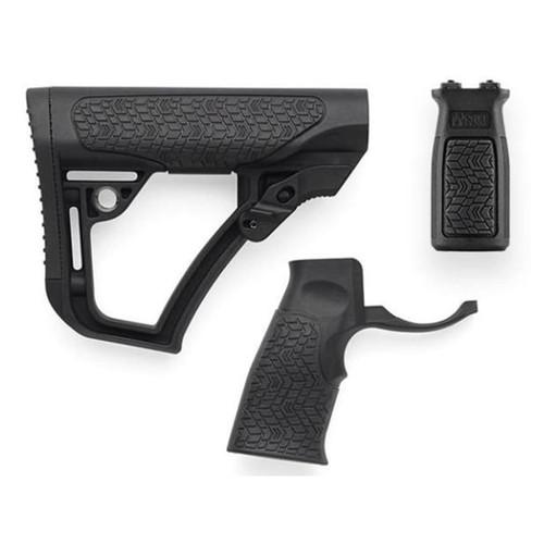 Daniel Defense Collapsible Stock, Pistol Grip M-Lok Vertical Foregrip Combo