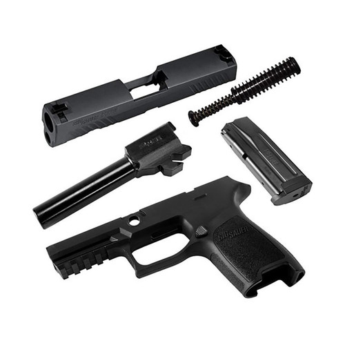 Sig Sauer Caliber X-Change Kit Sig P320 Compact 9mm Luger with 15-Round Magazine Black