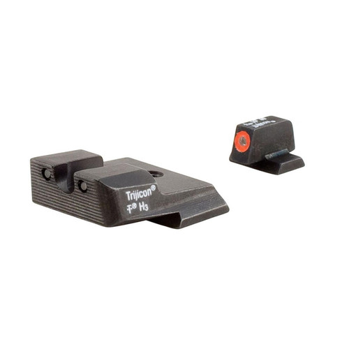 Trijicon HD Night Sight Set S&W M&P Steel Matte 3-Dot Tritium Green with Orange Front Dot Outline