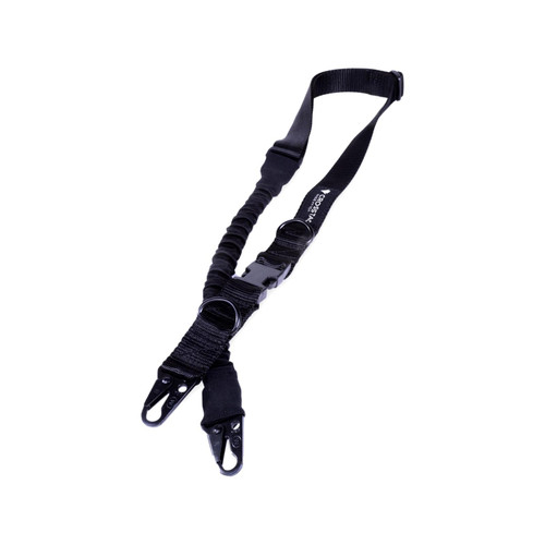 CrossTac Tactical Single/Double Point Sling Nylon Bungee Black