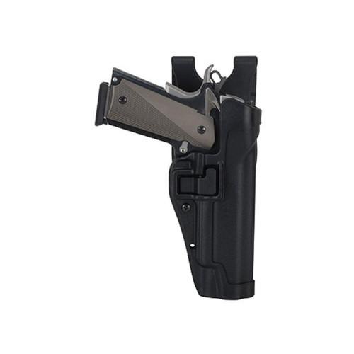 BLACKHAWK Level 2 Serpa Auto Lock Duty Holster Right Hand Beretta 92, 96 Polymer Black