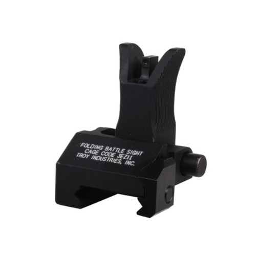 Troy Industries Front Flip-Up Battle Sight M4-Style with Tritium AR-15 Handguard Height Aluminum Black