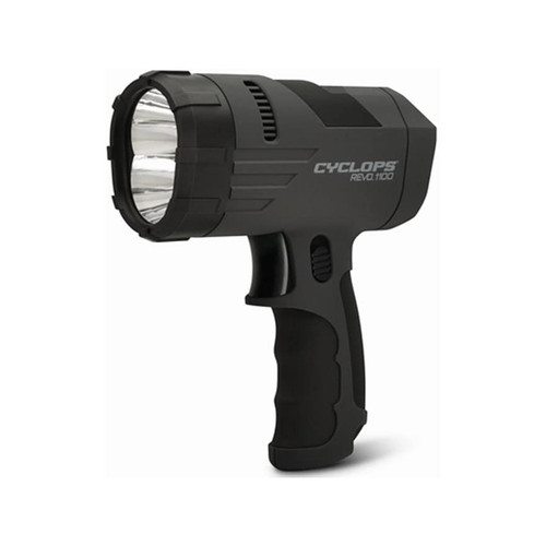 Cyclops REVO 1100 Handheld Spotlight LED Rechargeable Battery Polymer Black