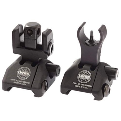 LWRC Skirmish Flip-Up Sight Set AR-15 Aluminum Black