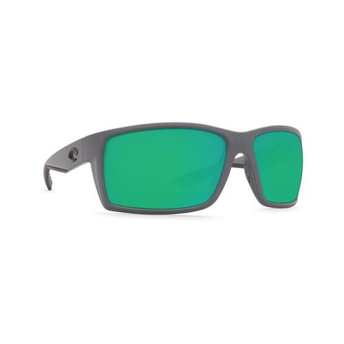 Costa Del Mar Reefton Polarized Sunglasses Matte Gray Frame/Green Mirror Lens