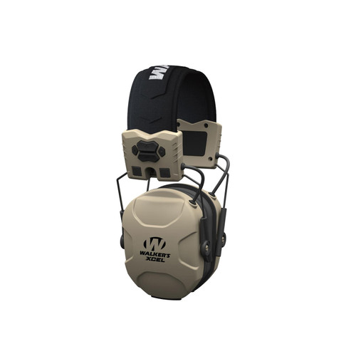 Walker's Xcel 100 Electronic Earmuffs (NRR 26dB) Flat Dark Earth