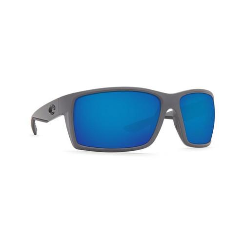 Costa Del Mar Reefton Polarized Sunglasses Matte Gray Frame/Blue Mirror Glass Lens