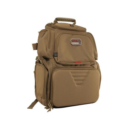 G.P.S. Handgunner Backpack Range Bag Tan