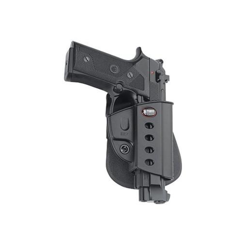 Fobus Evolution Paddle Holster Right Hand Beretta Vertec, Taurus 92, 99, PT101 with Rail Polymer Black