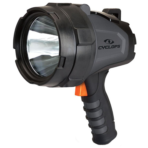 Cyclops 580 Lumen Handheld Spotlight LED Rechargeable Battery Polymer Gray