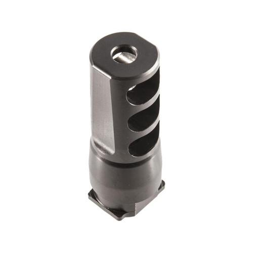 "SilencerCo Saker 556 Muzzle Brake Suppressor Mount 5.56mm AR-15 1/2""-28 Thread Steel Matte"