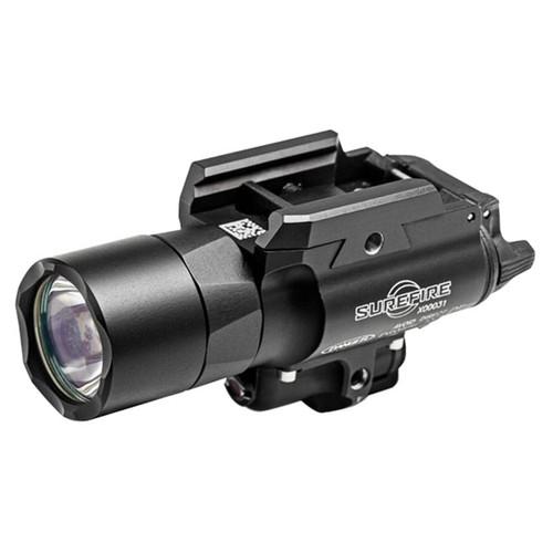 Surefire X400 UW Light LED, Red Laser, 2 CR123A Batteries Aluminum Black