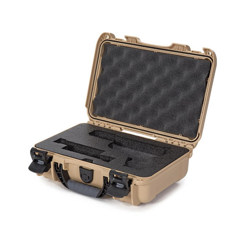 "Nanuk 909 Pistol Case with Foam 11"" Polymer Tan"