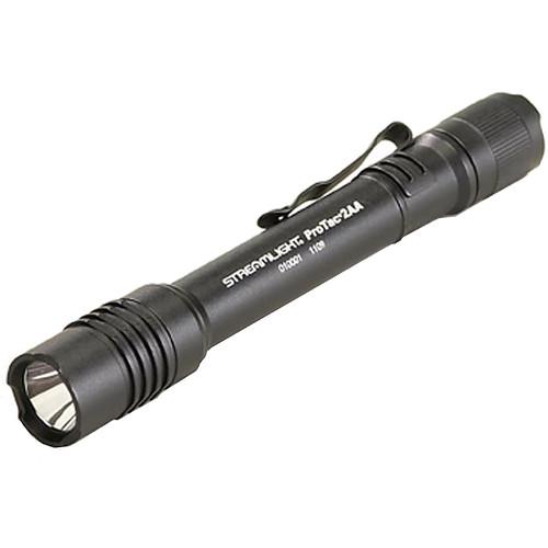 Streamlight ProTac 2AA Flashlight LED with 2 AA Batteries Aluminum Black