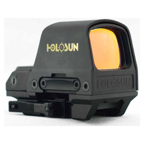 Holosun Reflex Sight 1x Selectable Reticle Quick-Release Mount Solar/Battery Powered Matte HS510C