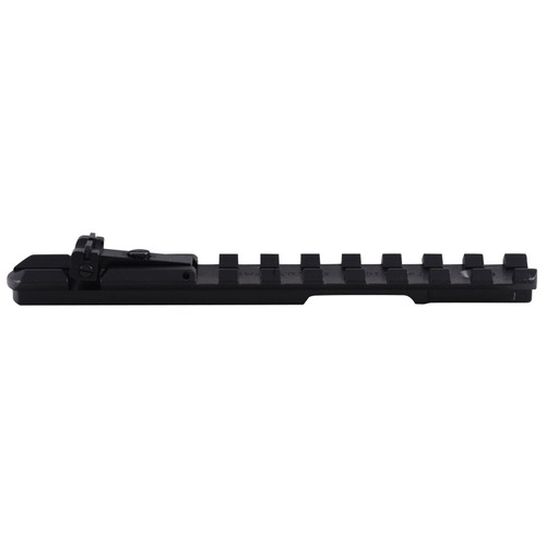 Tactical Solutions 1-Piece Picatinny-Style Scope Base with Integral Adjustable Rear Sight Browning Buck Mark Pistol Black