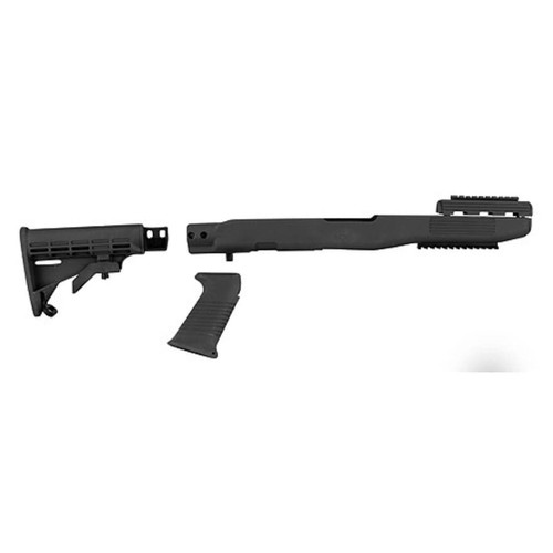 TAPCO Intrafuse Collapsible Rifle Stock System, Rail SKS Synthetic Black