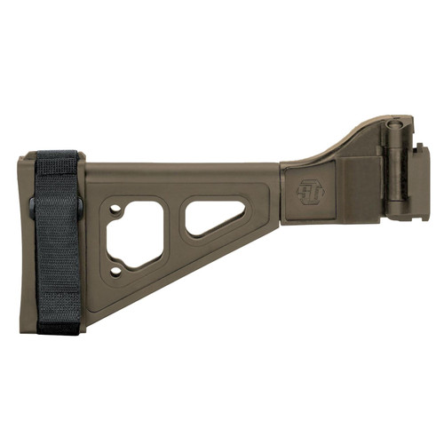 SB Tactical SBT-EVO Pistol Stabilizing Brace Side Folding with Adapter CZ Scorpion EVO Flat Dark Earth