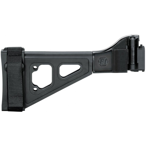 SB Tactical SBT-EVO Pistol Stabilizing Brace Side Folding with Adapter CZ Scorpion EVO Black