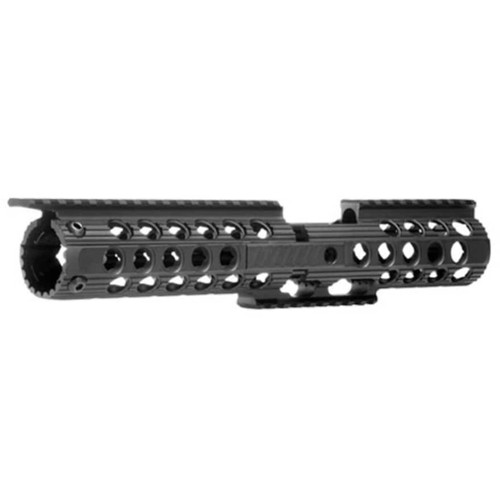 "Troy 12"" Delta Battle Rail 2-Piece Modular Free Float Handguard AR-15 Black"