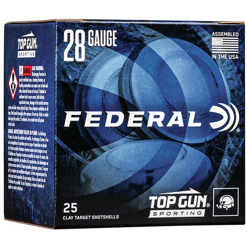 "Federal Top Gun Sporting Ammunition 28 Gauge 2-3/4"" 3/4 oz #8 Shot Box of 25"