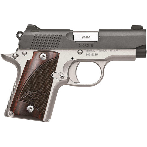"""Kimber Micro 9 Two-Tone Pistol 9mm Luger 3.15"""" Barrel 7-Round Black Rosewood"""