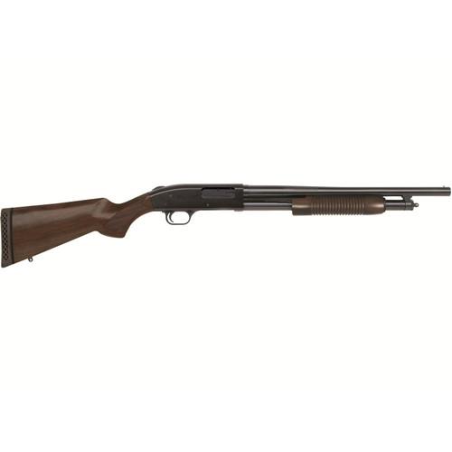 """Mossberg 500 Retro Shotgun 12 Gauge 18.5"""" Barrel 5-Round, Walnut Stock"""