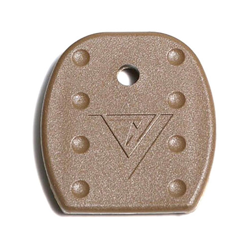 Vickers Tactical Magazine Floor Plates Glock 9mm, 40 S&W, 357 SIG, 45 GAP Metal Lined Magazine Polymer Tan Package of 5
