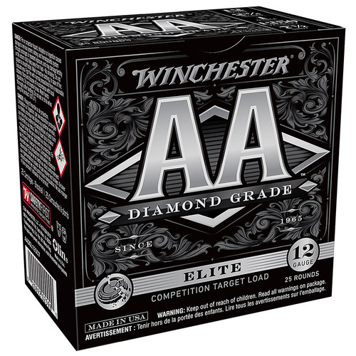 "Winchester AA Diamond Grade 1250 Ammunition 12 Gauge 2-3/4"" 1-1/8 oz #7-1/2 Shot Box of 25"