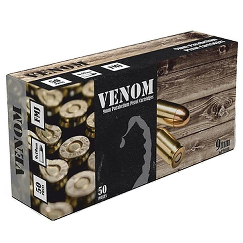 Venom 9mm Luger Ammo 115 Grain Full Metal Jacket