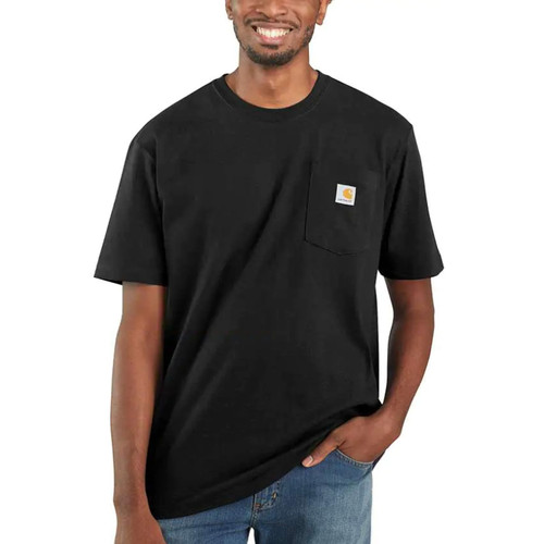 Carhartt Men's Workwear Pocket Short Sleeve T-Shirts K87-Blk K87