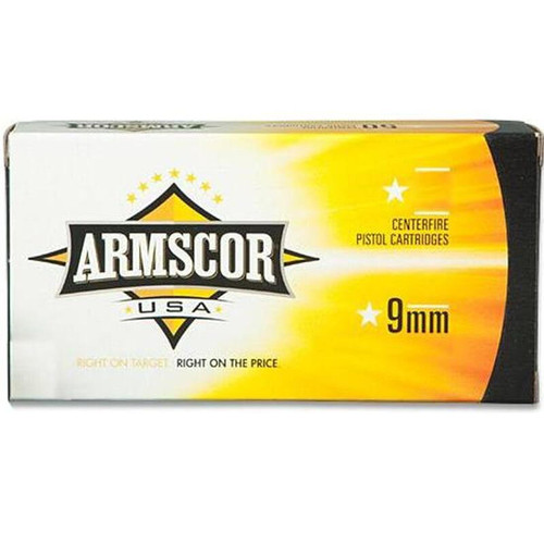 Armscor 9mm Ammo 124GR JHP 20 Rounds
